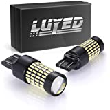 LUYED 2 X 1700 Lumens Extremely Bright 7443 4014 102-EX Chipsets 7440 7441 7443 7444 992 LED Bulbs with Projector for Backup