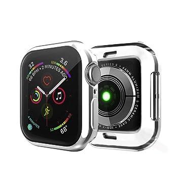 IvyLife Funda para Apple Watch 44mm Carcasa para iWatch Serie 4 Funda Suave para iWatch, Carcasa Protección de Pantalla de Apple Watch, TPU Cubierta ...
