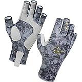 CRUSEA Fingerless Outdoor Gloves Sun Gloves UV Protection UPF50+Fishing Gloves Sun Protection Gloves Men Women for Kayaking,
