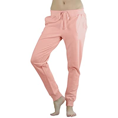 ToBeInStyle Women's Solid Print French Terry Jogger Pants at Women's Clothing store