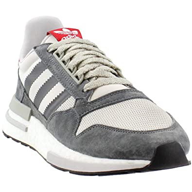 check out bbf24 ca616 adidas ZX 500 RM Mens in Grey White Scarlet, 7.5