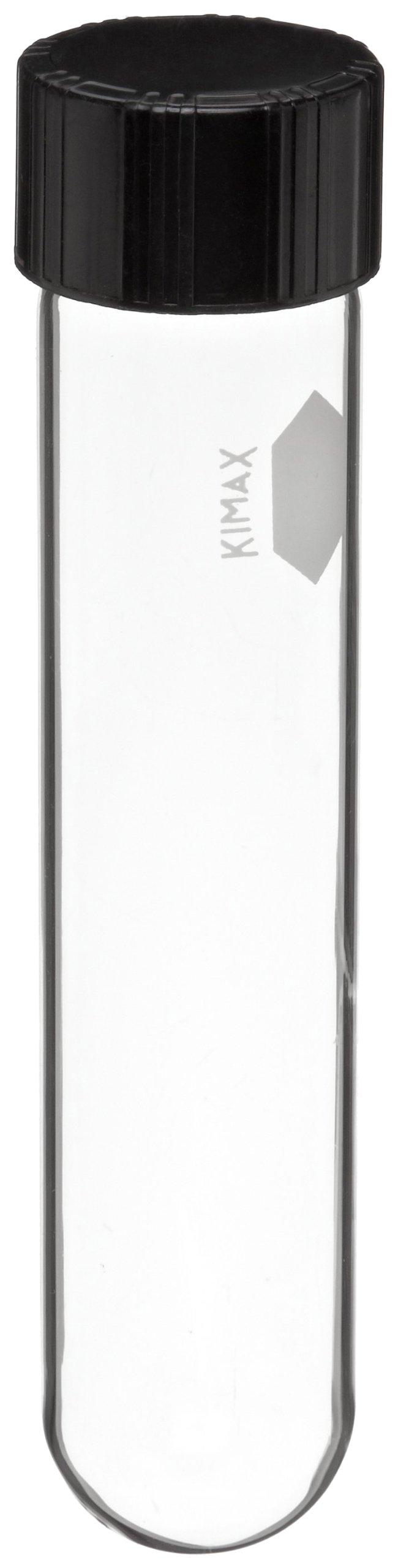 Kimble 45066-25150 KG-33 Borosilicate Glass 50mL Culture Tube, with Rubber Lined Screw Cap, Clear (Pack of 36)