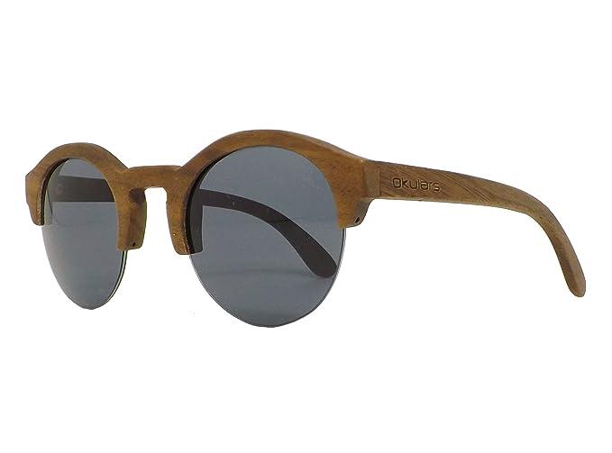 Okulars, gafas de sol hechas a mano, minimalistas, madera, unisex
