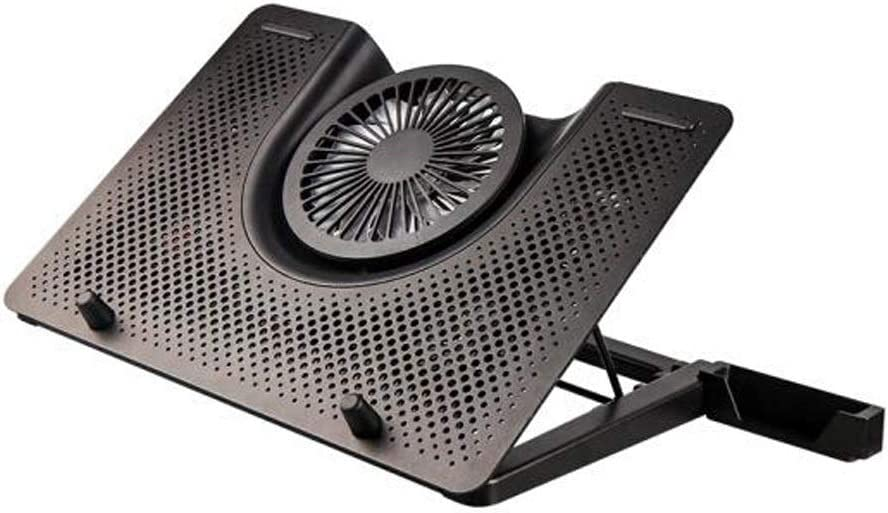 Aluminum Bracket Base Radiator 1 Large Fan 4 Small Fan for Laptop 17 Inches Black,Experience More Comfortable Gaoxingbianlidian Laptop Radiator Color : Black