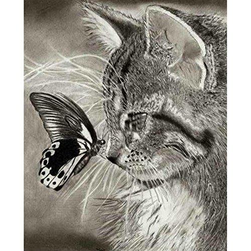 5d DIYダイヤモンド絵画、patgoalダイヤモンド刺繍猫絵画クロスステッチクラフトホームデコレーション
