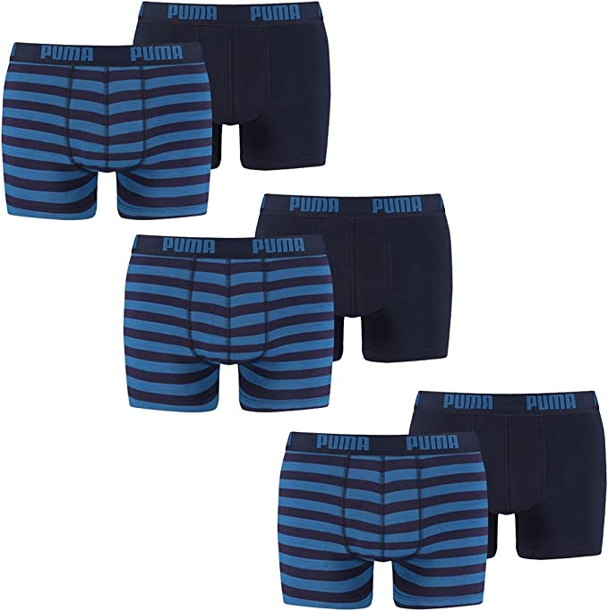 Puma Herren Striped Boxer 2er Pack: Puma Bodywear: