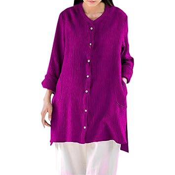 94871e4557 Long Sleeve Cardigan Shirt Clearance Women s Loose Fit Button Down  Irregular Hem Long Sleeve Cardigan Shirts