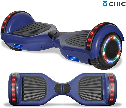 TPS Power Sports Electric Rechargeable Hoverboard for Kids and Adults with Speaker and LED Lights Safety Certified