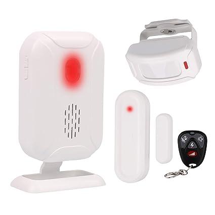 Mengshen El Kit De Alarma De Detección De Movimiento, Sistema De Alarma De Seguridad para El Hogar Incluye 1 Sensor De Contacto, 1 Sensor De ...