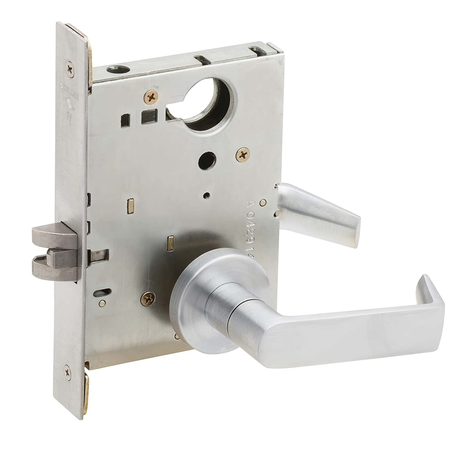Schlage L9010 06A 626 Series L Grade 1 Mortise Lock, Passage Function, Keyless, 06A Design, Satin Chrome Finish