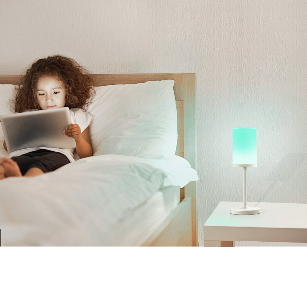 Marrado Bluetooth Speakers + Bedside Lamp, Night Light, Smart Touch Control Table Lamp for Bedroom Living Room, Portable Rechargeable LED Desk Lamp, Dimmable Warm White & Color Changing by Marrado (Image #8)