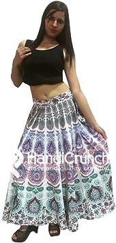 Indio 100% algodón Hippie Gitana Bohemia Mandala Faldas largas ...
