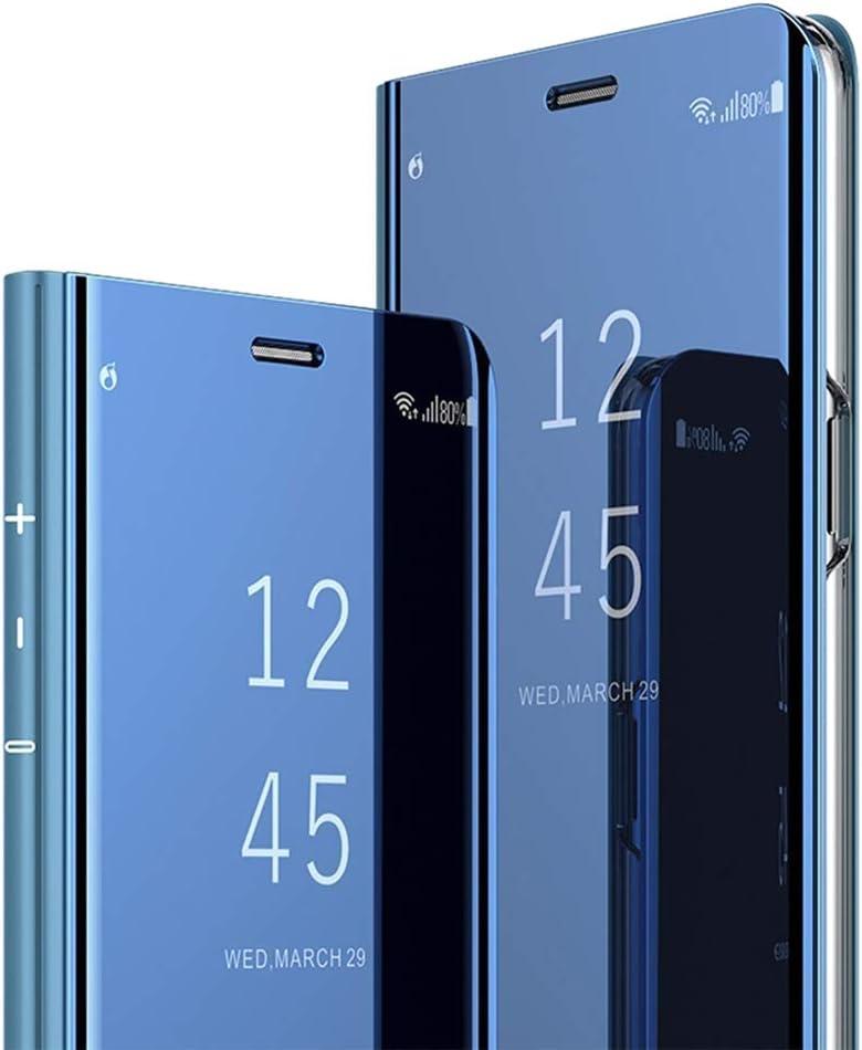 Flip Mirror MRSTER Honor 20 Pro Miroir Housse Coque Etui /à Rabat Mirror Smart View Standing 360/° Protecteur Etui Coque pour Huawei Honor 20 Pro Rose Gold
