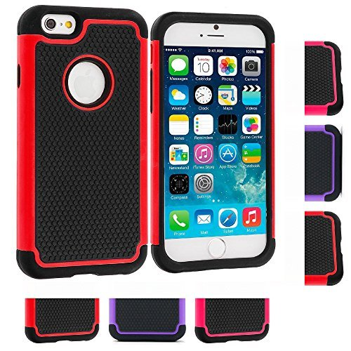 Price comparison product image iPhone 6s Case, iPhone 6 Case, [4.7inch]by HLCT, Soft Interior Silicone Bumper&Hard Shell Solid PC Back, Shock-Absorption&Skid-proof