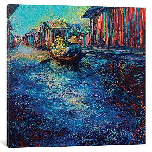 iCanvasART My Thai Floating Market Gallery Wrapped Canvas Art Print by Iris Scott, 37'' x 0.75'' x 37'' by iCanvasART