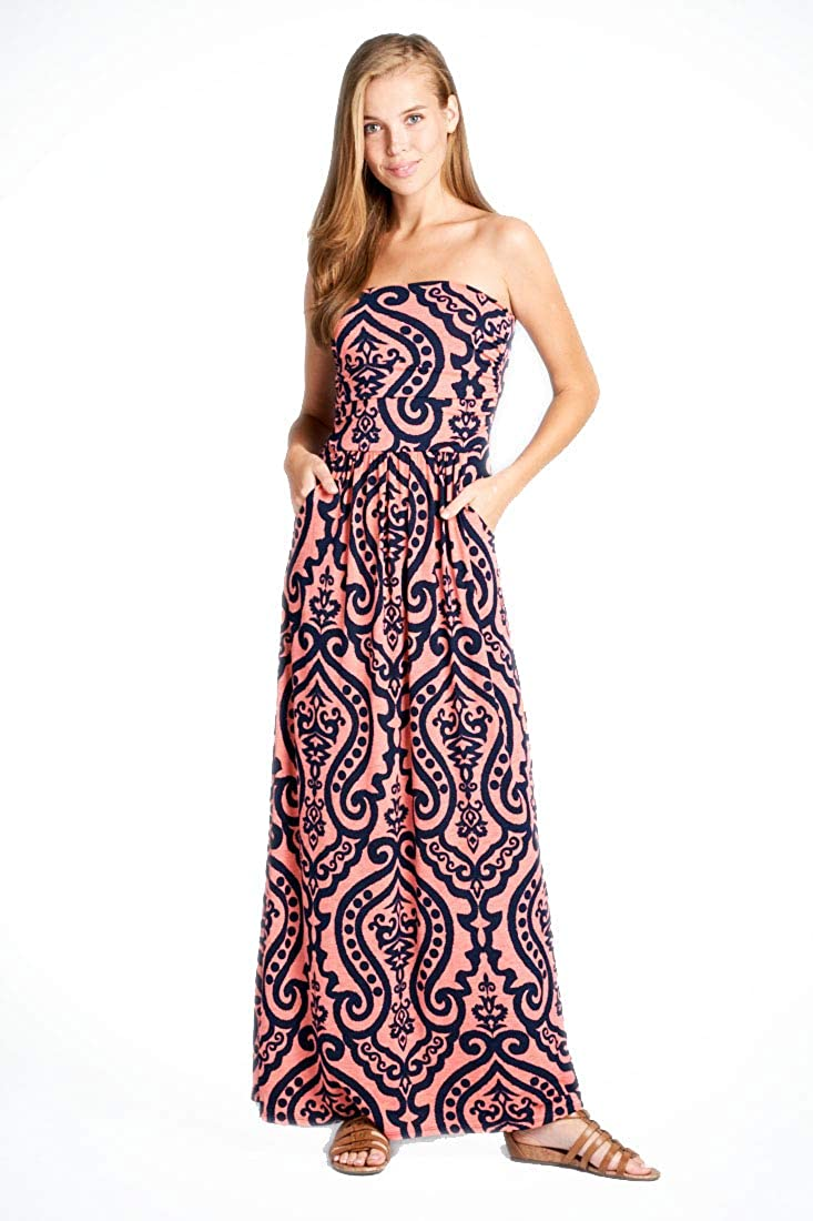 0ff43df10f Vanilla Bay Women s Strapless Full Length Maxi Dress with Pockets at Amazon  Women s Clothing store