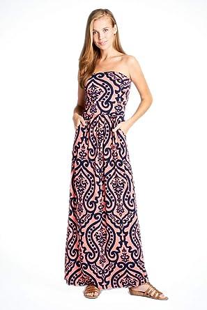 bc5bde3f09f Vanilla Bay Women s Strapless Full Length Maxi Dress with Pockets at ...