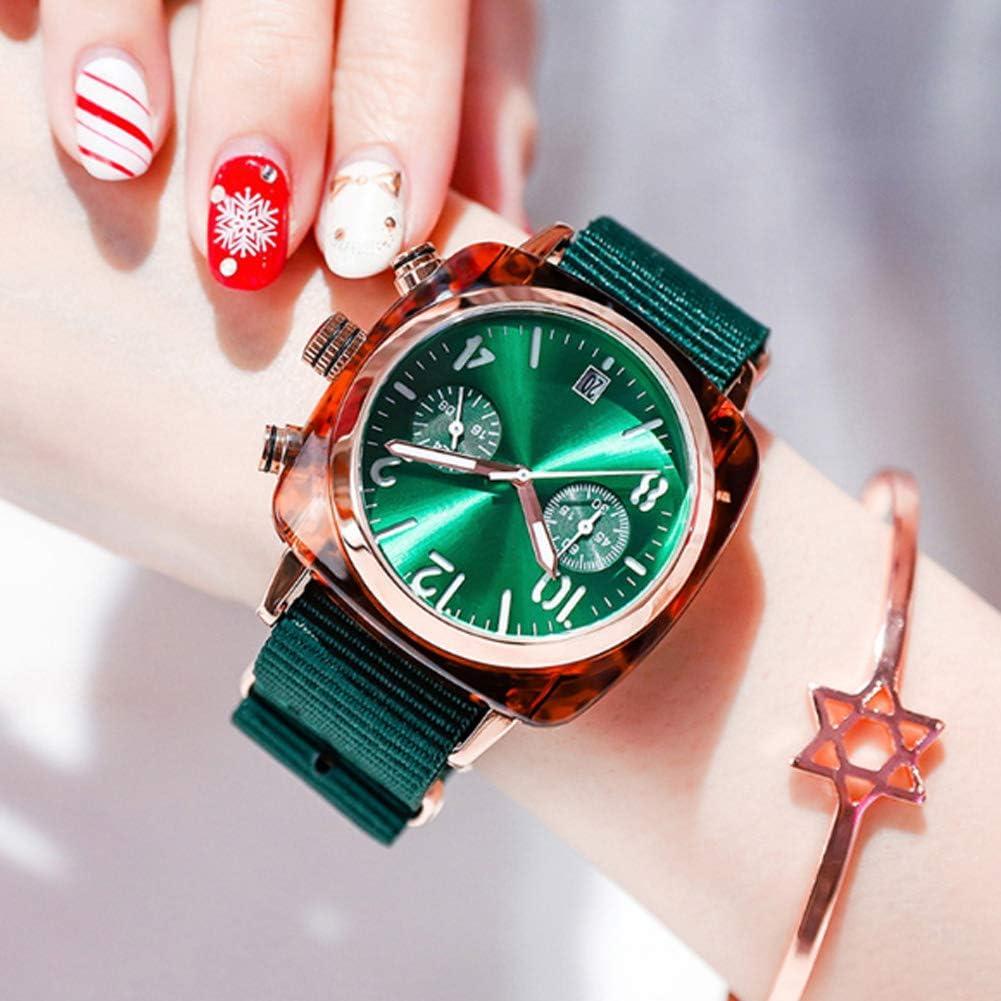 YRYH para Ver La Lona De Las Mujeres Tipo Reloj De Moda De Moda De Múltiples Funciones del Dial Eco-Friendly - Relojes únicos