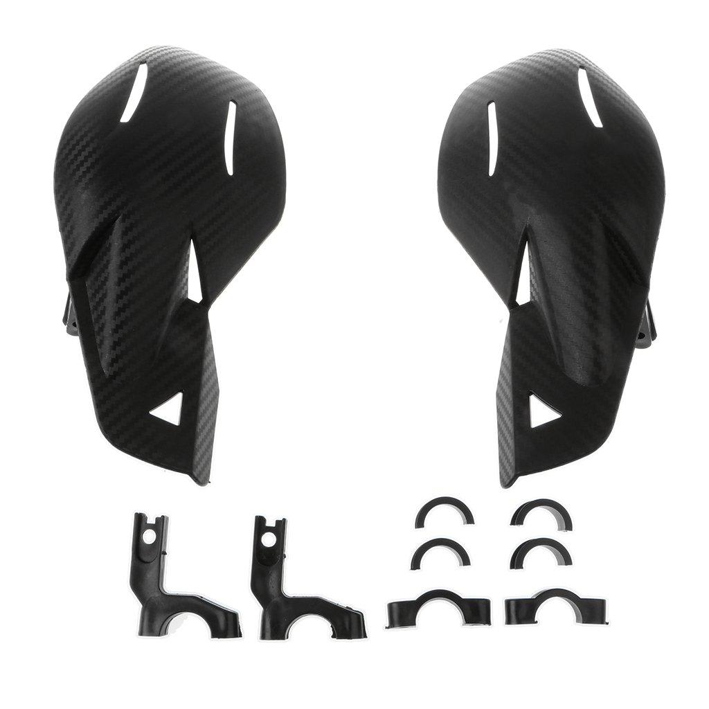 MagiDeal Garde-Mains VTT Universel 7//8  22mm Barre De Brosse Handguard Dirt Bike Noir