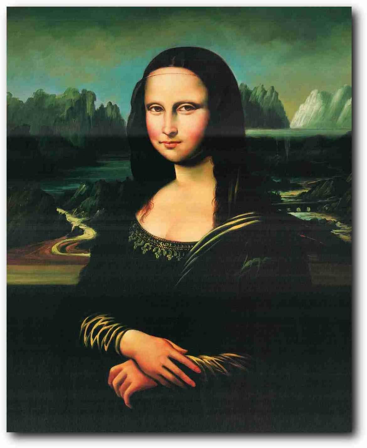 Famous Mona Lisa by Leonardo da Vinci Wall Poster Prints Masterpiece Decoration