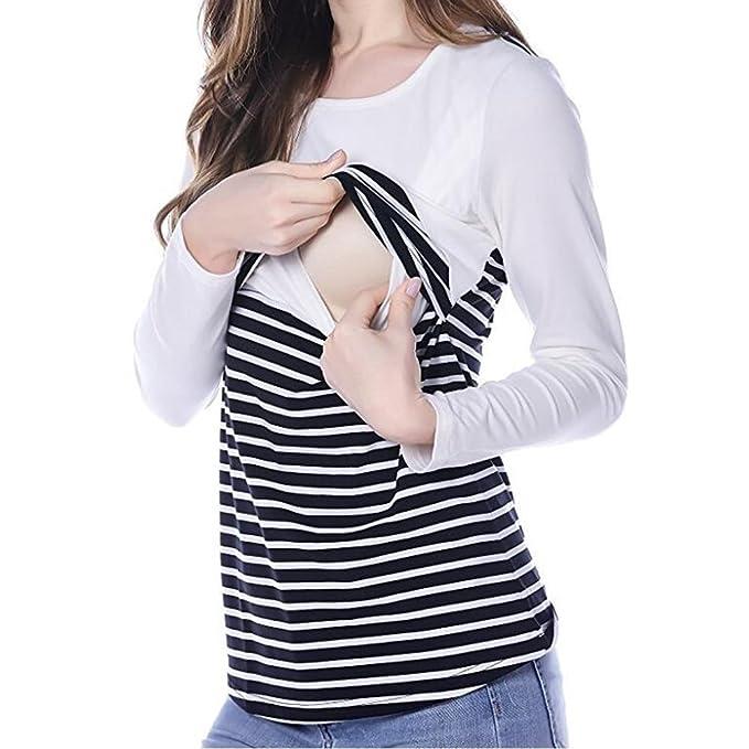 Juleya Embarazo Ropa de maternidad Camisetas de maternidad Camiseta blanca S