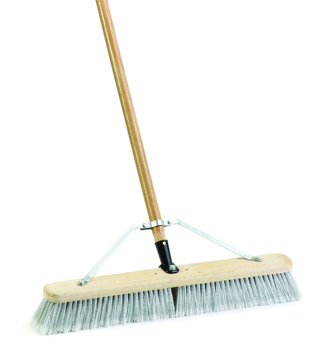 MintCraft Pro 1425AJOR Push Broom with Brace 24-Inch Smooth