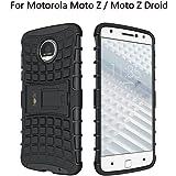 Heartly Rugged Shock Proof Tough Armor Back Case For Motorola Moto Z / Moto Z Droid - Rugged Black