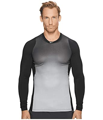 0cf91e59 Nike Men's Pro Hypercool Long Sleeve Baseball Top Shirt (Small, Black/Wolf  Grey
