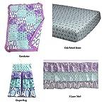 Bacati-Isabella-Paisley-Girls-10-Piece-Nursery-in-A-Bag-Crib-Bedding-Set-with-Long-Rail-Guard-LilacPurpleAqua