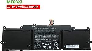 Dentsing ME03XL (11.4V 37Wh/3130mAh) Laptop Battery Compatible with HP Stream 11-D 11-d001dx 11-d001ne 13-C 13-c001la 13-c001nc Series Notebook 787521-005 787089-541 HSTNN-UB6M