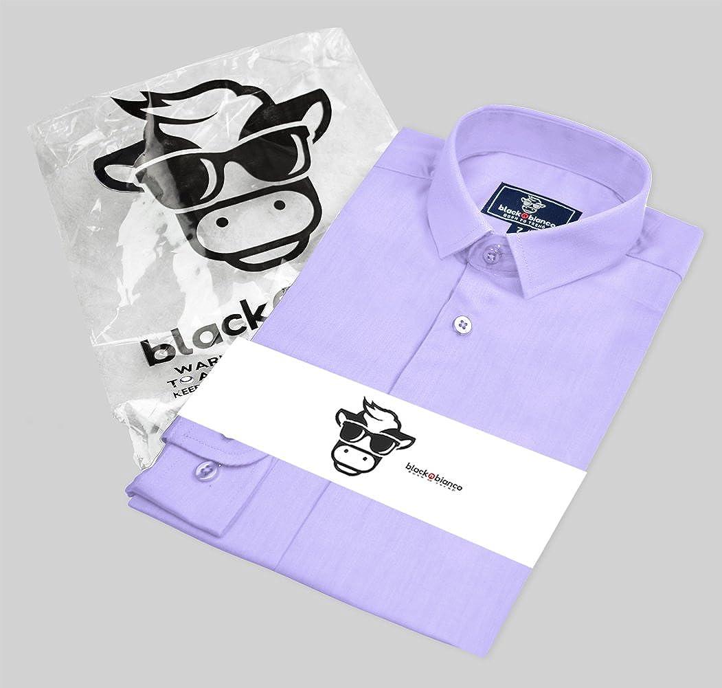 Black n Bianco Boys Signature Sateen Long Sleeve Dress Shirt