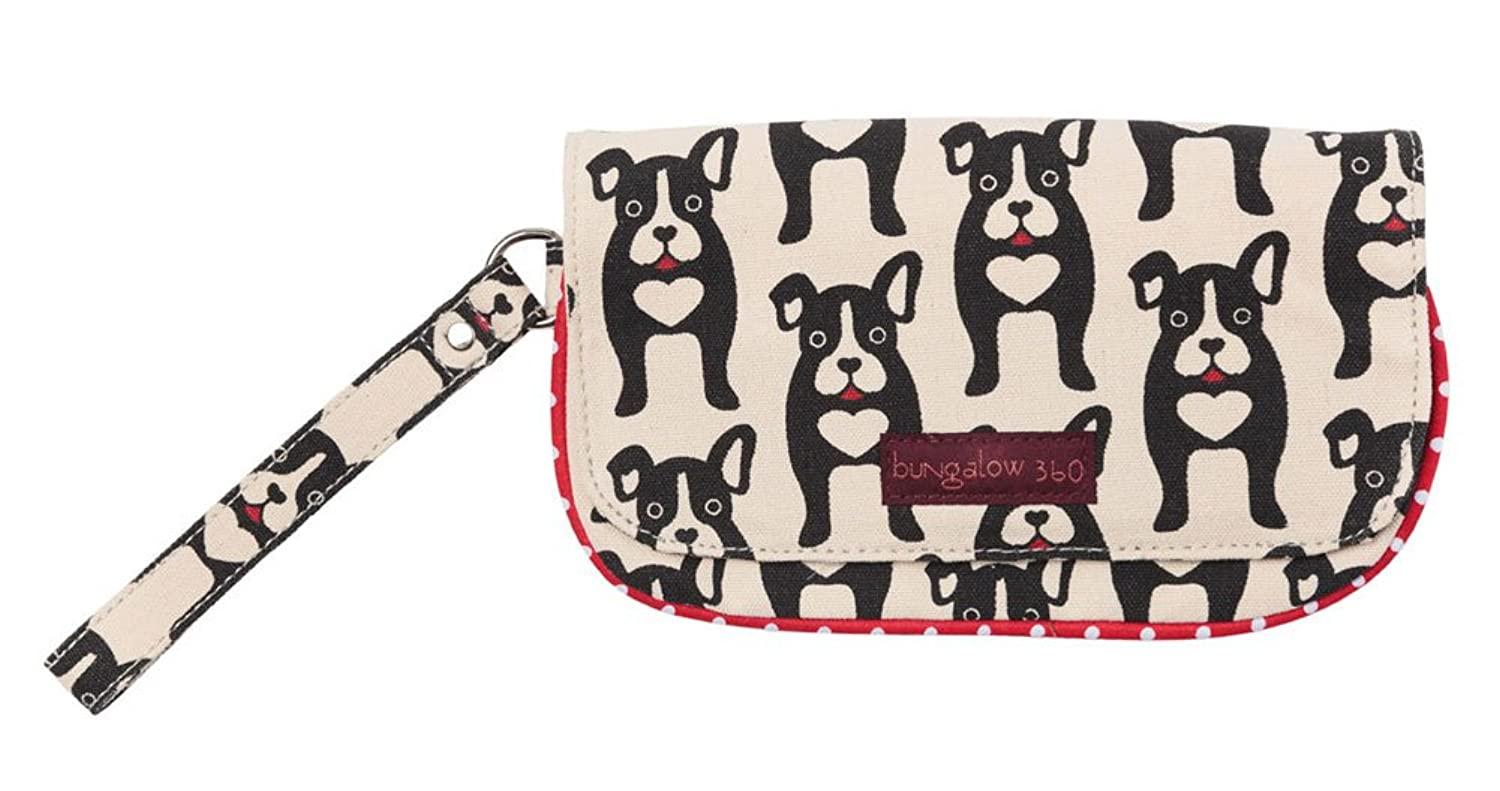 bungalow360 vegan wristlet boston terrier handbags amazon com