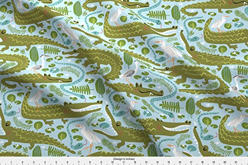 Everglade Alligator (Everglades National Par Fabric Everglades Alligators by Pattyryboltdesigns Printed on Basic Cotton Ultra Fabric by the Yard by Spoonflower)