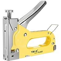 Honeytecs Stapler Staple Gun Heavy Duty Chrome U-Shape Nails Stapler Nailer TU-903 3 Ways