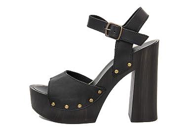 MARRADINI Damen - Sandale - Glattleder - 901_227_Nabuk_DELF_Blau