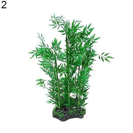 Amazon.com : Aquarium Fish Tank Artificial Bamboo Kelp Water Grass Aquatic Plant Landscape : Pet Supplies