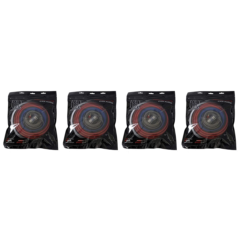 BULLZ AUDIO 4ゲージ カーアンプ インストール パワー配線キット BGE4RP (4個パック)   B07HNLMQQ6