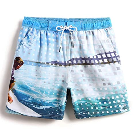 OME&QIUMEI Pantalones Cortos para Hombres Traje De Baño para ...