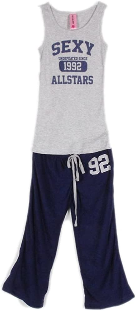 G2 Chic All Star - Conjunto de Camiseta y Pijama Sexy y cómoda para Mujer - Azul - Large: Amazon.es: Ropa y accesorios