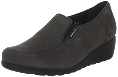 b3d4ddedcb Mephisto Mobils GINESTA Grey Nubuck Slip-on Shoes for Women Wide FIT (5.5(