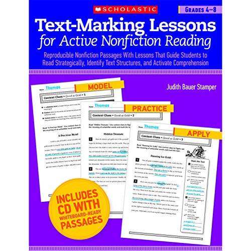 Text-Marking Lessons for Active Nonfiction Reading (Grades 4-8): Reproducible Nonfiction Passages With Lessons That Guid