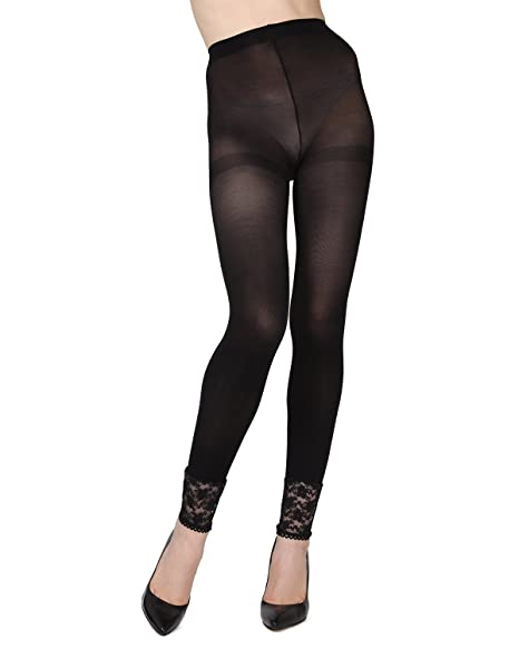 65479dd58f2c0 MeMoi Lace Footless Tights   Buy Womens Tights Black MS5 273 Small/Medium