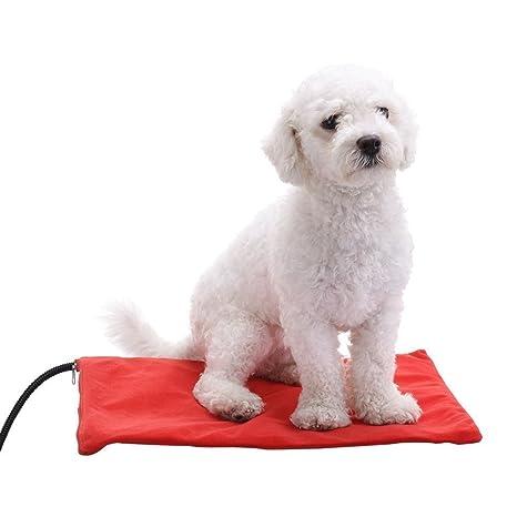 Berocia cama perro mediano gato mascota colchoneta manta Cojín de calefacción Cama eléctrica animal antiarañazos manta