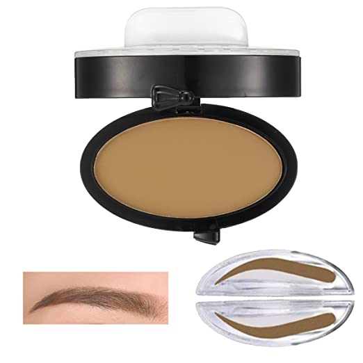 Eyebrow Powder, LuckyFine - Seal Eyebrow Eyebrows Beginners Lazy People Eyebrows Brow Stamp Makeup Fashion Unique Brow Powder Gray Brown Coffee Coffee