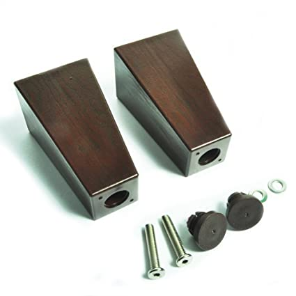 4 7 Replacement Furniture Legs Square Walnut Brown Contemporary