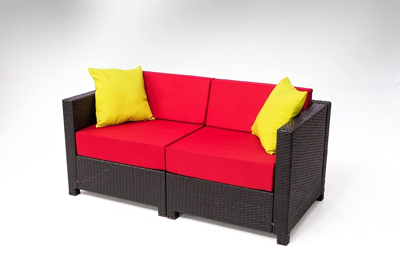 Amazon.com : MCombo 12 Piece Luxury Black Wicker Patio Sectional ...