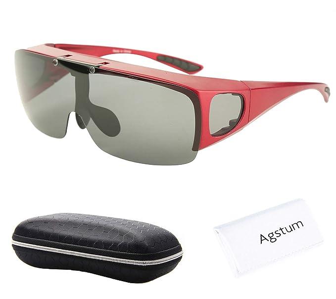 Anteojos Agstum de conducción polarizada y envolvente, gafas de sol con ajuste hacia