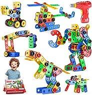 Jasonwell STEM Toys Building Blocks - 152 PCS Educational Construction Set Creative Engineering Toys Building