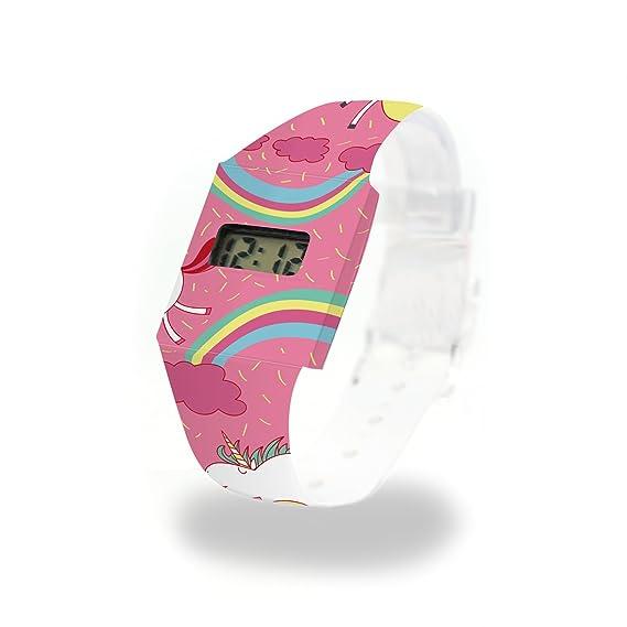 Unicornio en las nubes cartón Watch/Paper Watch/Reloj de pulsera digital de Tyvek®, Absolutamente resistente y agua: Amazon.es: Relojes
