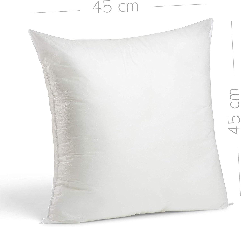coussins d/écoratifs oreillers 45 x 45 cm Blanc. Lileno Home Lot de 4 coussins de garnissage en polyester Coussins lavables et adapt/és pour les personnes souffrant dallergies Coussins pour canap/é
